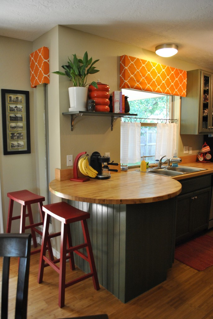 Laura's orange and green kitchen