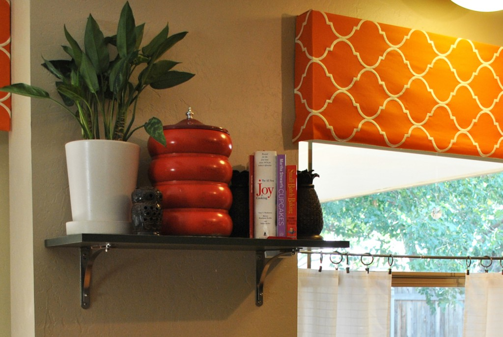 Laura's orange Moroccan valance