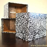 pretty covered boxes - finished