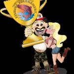 THCB fishing tournament cartoon