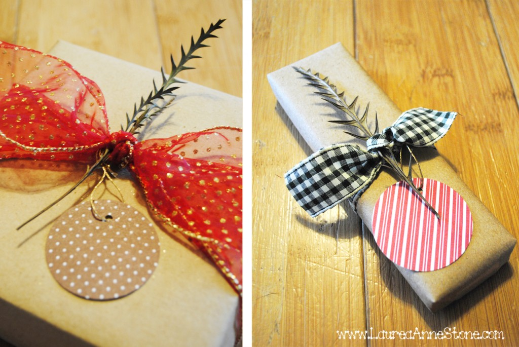 Craft-wrapped gifts
