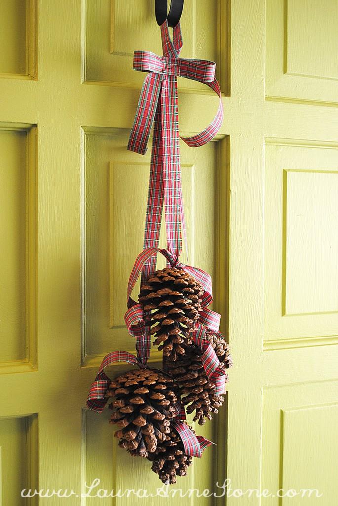 Weekend Project Pine Cone Door Hanger Laura Anne Stone