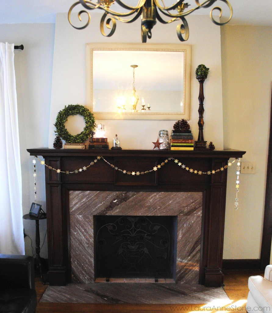 2013 Winter Holiday Mantle - LauraAnneStone.com