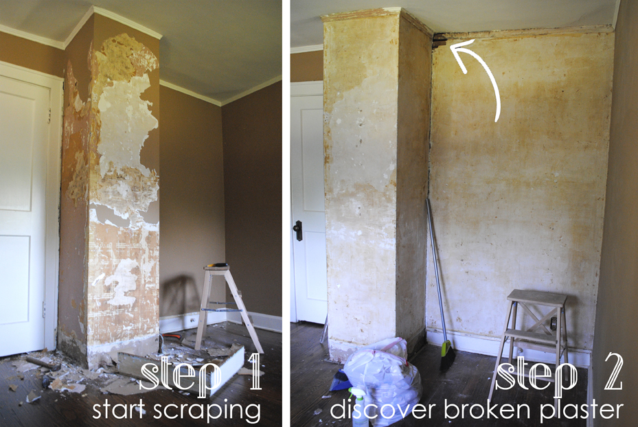 stripping historic plaster