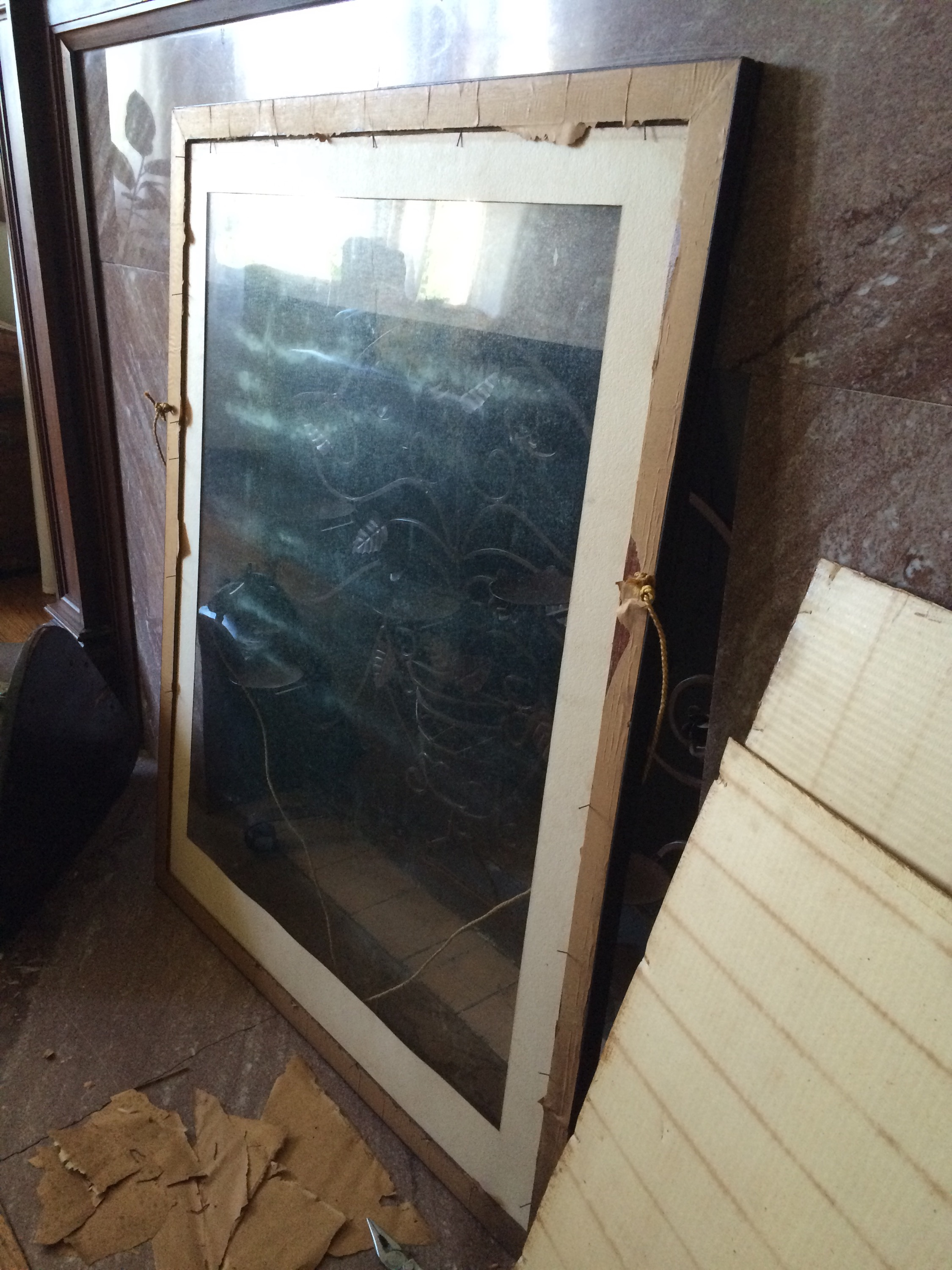 Antique frame - mildew on glass